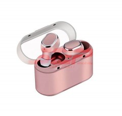 Casti audio stereo Wireless TWS-18 ROSE GOLD