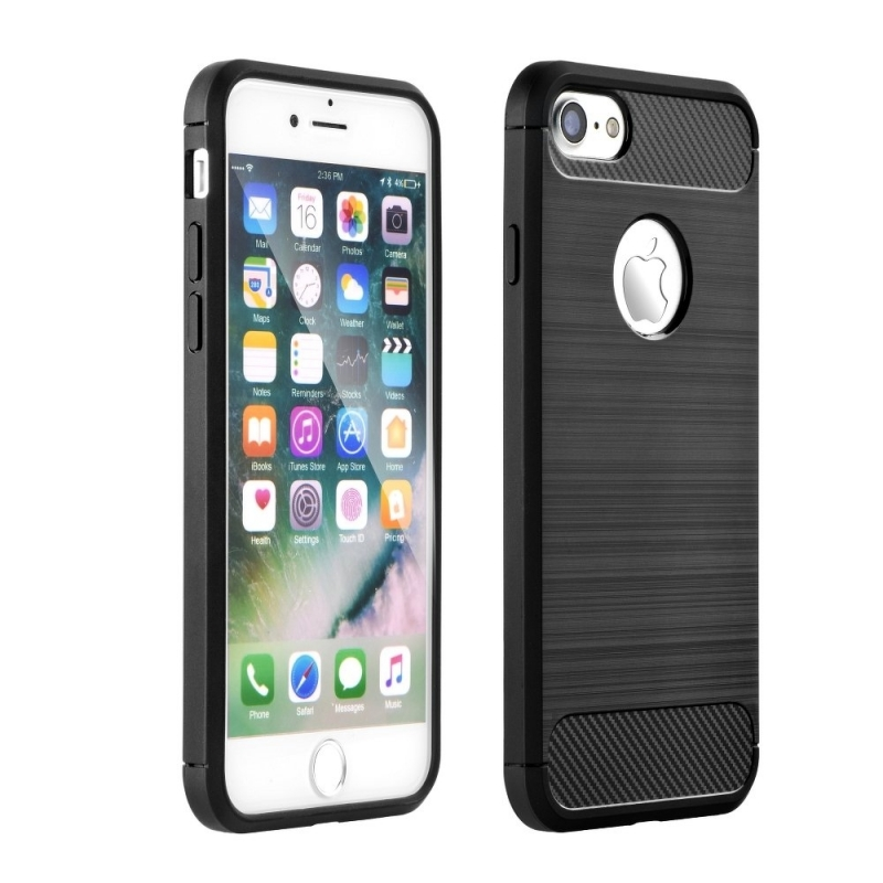 Husa APPLE iPhone 7 / 8 - Carbon (Negru) Forcell