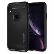 Husa APPLE iPhone XR - Rugged Armor (Negru) Spigen